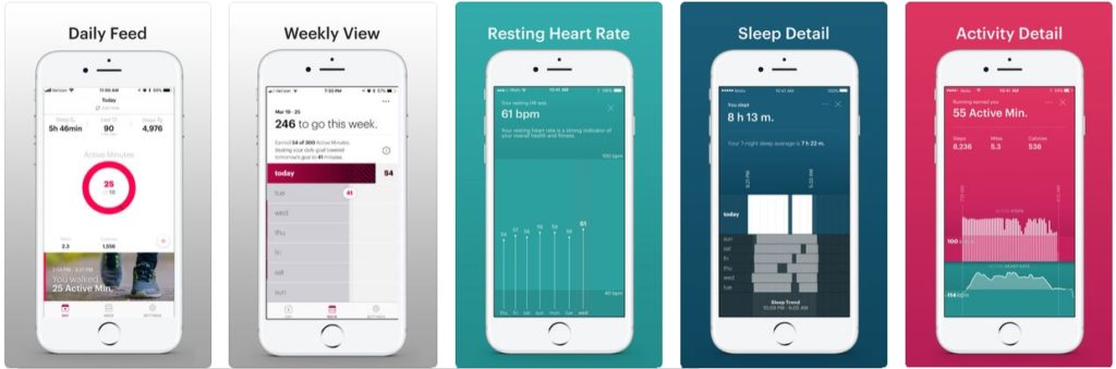 App zum MOTIV Fitness-RIng